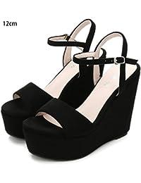 Amazon.it  zeppe donna estive - Scarpe col tacco   Scarpe da donna ... 2ad0bb3971c