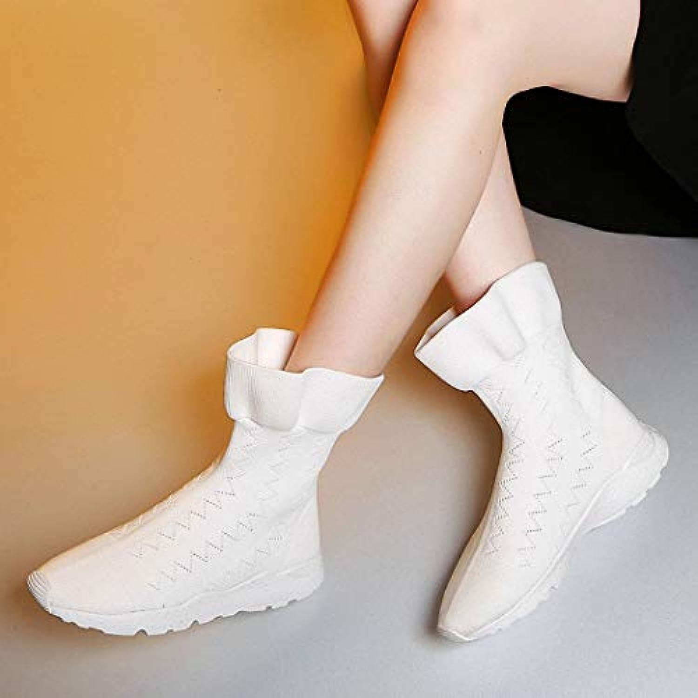 Lucdespo Calzature sportive Moda donna Calzature moda Scarpe Tessuti volanti Foglie di loto Elasticità alta Senza... | Pratico Ed Economico  | Uomo/Donna Scarpa