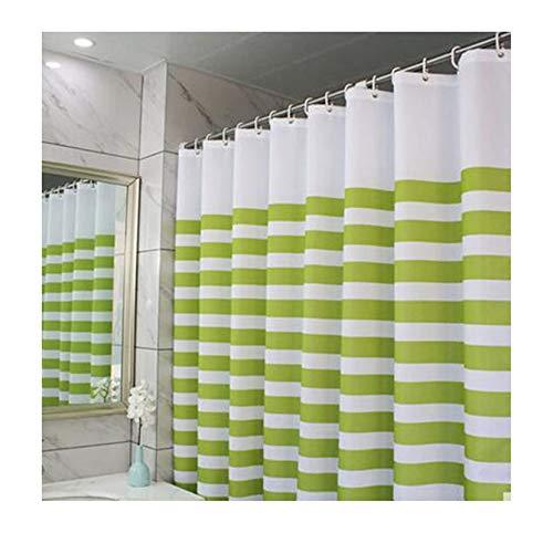 MaxAst Duschvorhang Wasserdicht Und Anti-Schimmel Duschvorhang Streifen Duschvorhang Polyester Weiß Grün Badewanne Vorhang 240x200 (Und Duschvorhang Orange Grün)