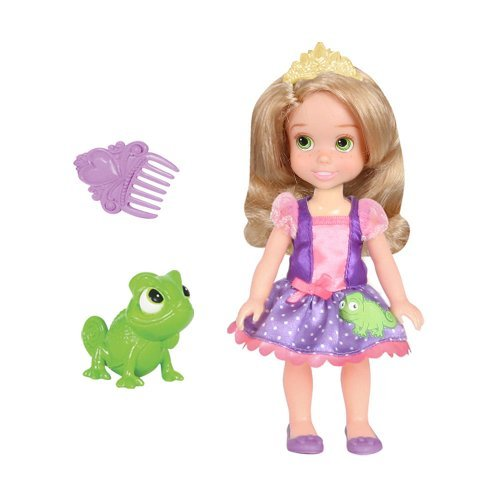 Disney Princess Petite Doll - Rapunzel and Pascal - Mini Puppe & Frosch aus USA