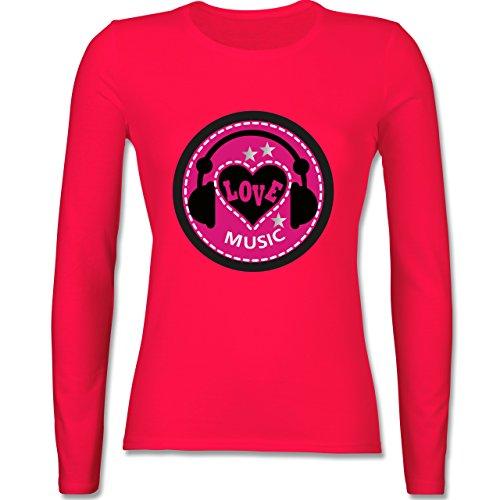 DJ - Discjockey - Love music - tailliertes Longsleeve / langärmeliges T-Shirt für Damen Rot
