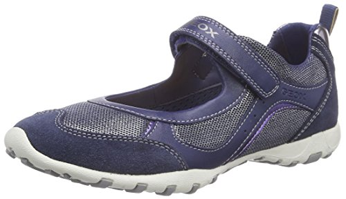 Geox Girls' JR FRECCIA A Ballet Flats Blue 1 UK (33 EU)