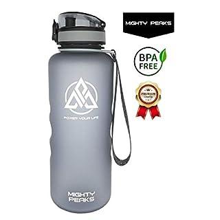 Tritan Trinkflasche-Sport Auslaufsicher BPA frei 1500ml 1,5l grau Plastikflasche Outdoor Fitness Camping Büro Yoga Trinkflasche 1.5 l-iter Glas Wasser-Flasche 1 5 l-iter Glas-Trinkflasche 1 5 l-iter