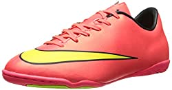 Nike Jr Mercurial Victory V Ic Kids Hyper Punch/Black/Volt/Mtlc Gold Coin Indoor Soccer Shoes -11.5 Little Kid M