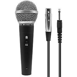 Microphone Vocal Dynamique, Microphone à Main unidirectionnel Professionnel pour la scène, Le karaoké, l'enregistrement de Chants,5 m XLR (M-58)
