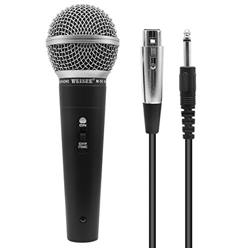 Microfono dinamico per voce professionale - Microfono cardioide unidirezionale - 5 m/XLR Connection