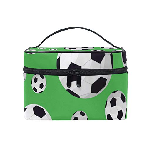 Kosmetiktasche Sport Fußball Muster Kosmetiktasche Reise Tragbare Tragen Kosmetik Pinsel Box Organizer Lagerung für Frauen -