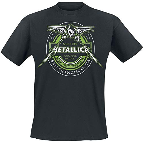Metallica 100% Fuel - Seek And Destroy Camiseta Negro XL