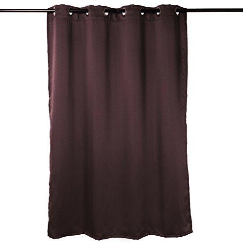 DODOING 1 Stück Solide Thermische Isolierte Blackout Vorhänge 8 Ösen Moderne Leinen Fenster Vorhang für Schlafzimmer Wohnzimmer Einzelplatte, 140x160cm(W x H) (Zebra Thermische Vorhänge)