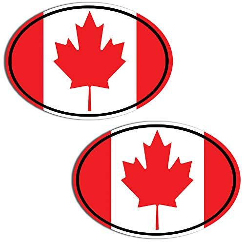 2 Stück Vinyl Kanada Kanadische Flagge Canada Aufkleber Autoaufkleber Stickers Auto Moto Motorrad Fahrrad Helm Fenster Tuning B 203