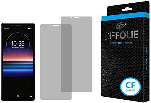Crocfol Bildschirmschutz für Sony Xperia 1: 2X DIEFOLIE Schutzfolie Casefit Folie zur Nutzung mit Schutzhülle/Case