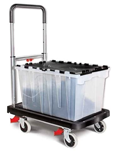 Magna Cart Flatform 300 lb Capacity Four Wheel Folding Hand Truck by Welcom