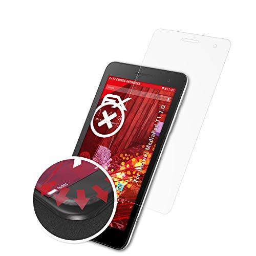 atFolix Schutzfolie passend für Huawei MediaPad T1 7.0 Folie, entspiegelnde & Flexible FX Bildschirmschutzfolie (2X)