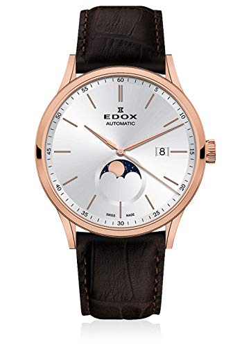Edox Men's Watch Les Vauberts La Grande Lune Date Moon Phase Analog Automatic 80500 37R AIR