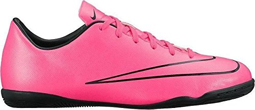Nike  Junior Mercurial Victory V IC, Chaussures de football mixte enfant Rose - Pink (Hyper Pink/Hyper Pink-Blk-Blk)