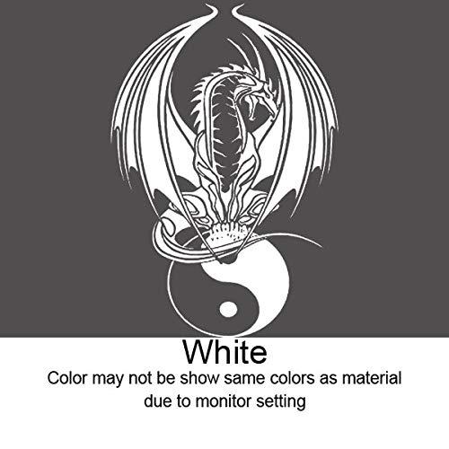 hllhpc Dekoration Tapeten Kunst entfernbarer Aufkleber Chinesischer Drache Yin Yang Laptop l Aufkleber 42 * 62cm