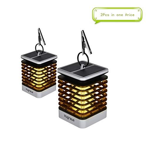 Solar Flame Lights Outdoor - Hängende Laterne beleuchtet Solarpfad-Licht, das Garten-Kerzen-Licht, für Laternen-Patio-Regenschirm-Lampe Baum-Pool-Pavillion-Rasen-Veranda-Yard -