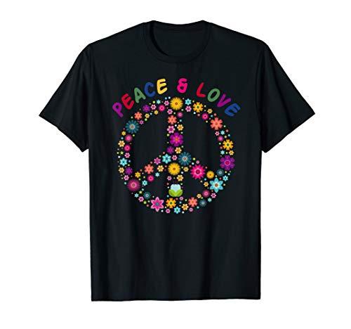 Friedenszeichen Für Erwachsenen Kostüm - Peace Love Hippie Kostüm 70er 60er