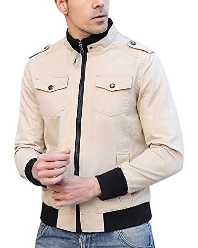 Screenes Herren Slim Fit Freizeit Mantel Zip Mode Bomberjacke Jacke Jacken Herbstjacke Tops Sportjacke Outerwear Jacket Langarm Stehkragen...