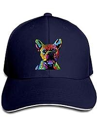 Bgejkos Gorro de Bulldog francés Sombrero de béisbol Unisex de Perfil bajo y Gorras de béisbol
