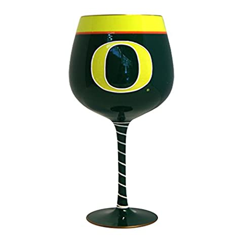NCAA Oregon Ducks Artisan Wine Glass, 33-ounce