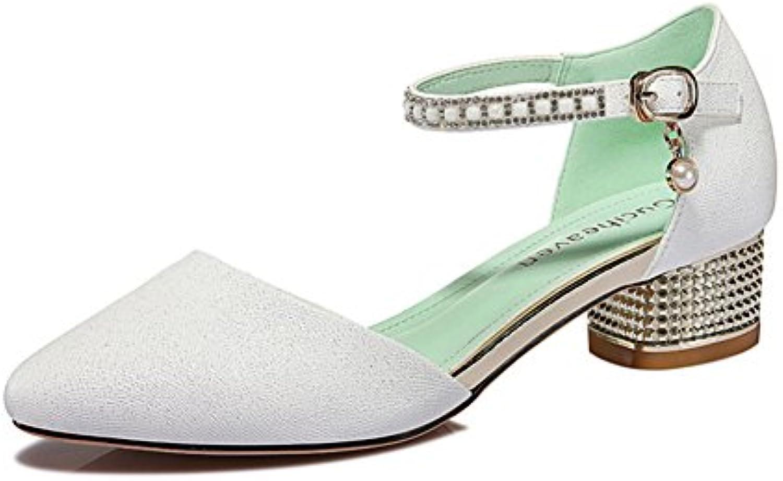 Sandali delle signore Selvatiche sottile sottile sottile scarpe Scarpe col tacco grosso minimalista bianco | Ad un prezzo accessibile  | Uomini/Donne Scarpa  7eea0e