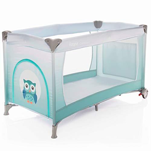 ZOPA Kinderreisebett Caravan - klappbarer Kinderreisebett mit Rädern - inkl. Reisebettmatratze - 120 x 60 cm - mit Schlupfloch und praktischer Ablagetasche (Gradient Blue)