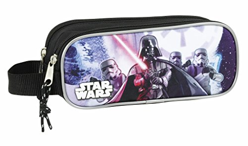 Star Wars Estuche portatodo Doble (SAFTA 811701513), Color Negro, 21 cm