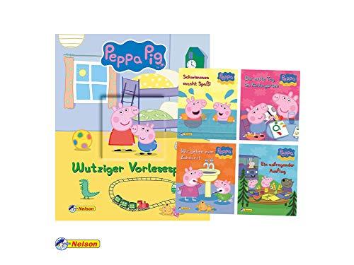 Nelson Peppa Pig: Wutziger Vorlesespaß (Pappbilderbuch) + 4. Peppa Pig Mini Bücher