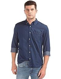 GAP Men's Indigo Twill Long Sleeve Shirt