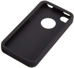AmazonBasics Silikon-Etui für Apple iPhone 4/4S Schwarz