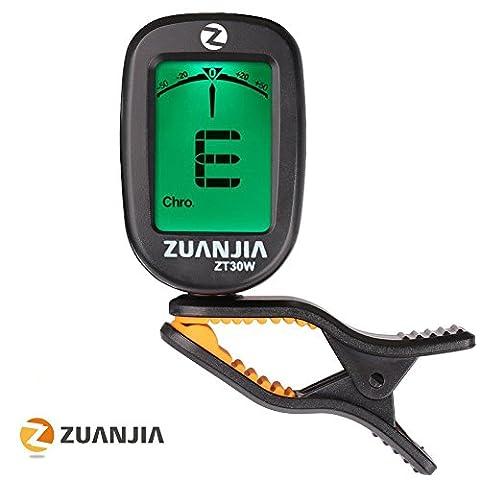zuanjia Guitar Tuner Chromatisches Clip das Original 360 ° großes Full Color Display Elektronische Digital Tuner für Akustik- und E-Gitarre, Banjo, Ukulele, Violine, Bass und Wind Instrumente