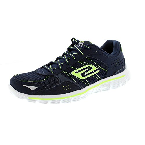 Da donna Skechers GO Walk 2 Flash con lacci da corsa ginnastica leggero scarpe Blu (Blu)