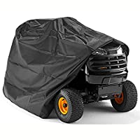 ICover Premium Ride-on Lawnmower Tractor Cover - Heavy Duty Protective 100% Waterproof & UV Proof Outdoor Cover