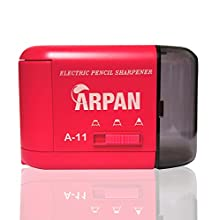 Pencil Sharpener Electric and Battery Operated Automatic Desktop Sharpener for Pencils with 3 Sharpness Settings for Office School Home use, Gifting Sharpener for Kids (Pink)