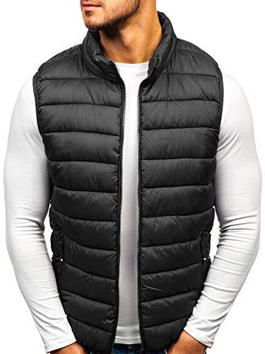 BOLF Gilet Matelassé Zippé Style Sportif Homme S-West 1262 Noir XXL [4D4]