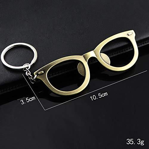 Kreative Und Praktische Multifunktionsbrille Frame Schlüsselanhänger Gold 10.5Cm * 3.5Cm