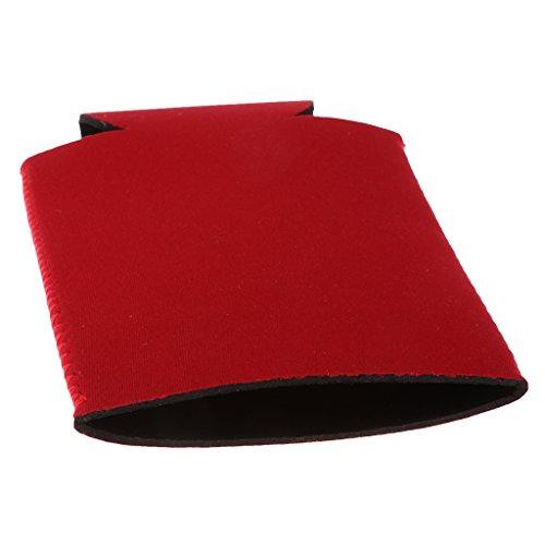 Sharplace Neopren Isolierhülle Flaschenhülle Getränkekühler Bierkühler -Rot