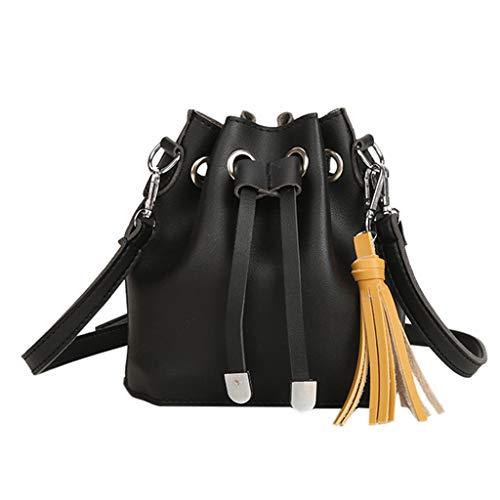 Mitlfuny handbemalte Ledertasche, Schultertasche, Geschenk, Handgefertigte Tasche,Mode Damen Eimer Quasten vielseitige Umhängetasche Messenger Bag Handtasche Back Platform Sandal