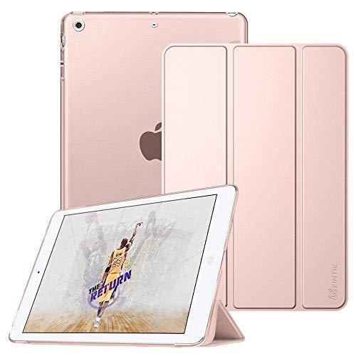Fintie iPad Mini Hülle - Ultradünne Superleicht Schutzhülle mit transparenter Rückseite Abdeckung Cover mit Auto Schlaf/Wach Funktion für Apple iPad Mini/iPad Mini 2 / iPad Mini 3, Roségold - Apple Ipad 1 Case