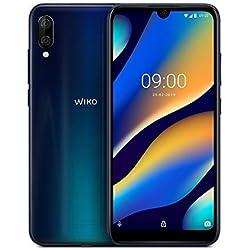 Wiko View3 Lite Smartphone débloqué 4G (Ecran 6, 09 Pouces - 32 Go - Double Nano-SIM + Micro SD - Android 9 Pie) Night Blue