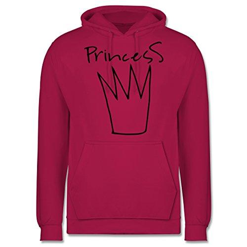 Statement Shirts - Princess Krone - Männer Premium Kapuzenpullover / Hoodie  Fuchsia