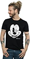 Disney Homme Mickey Mouse Distressed Face T-shirt