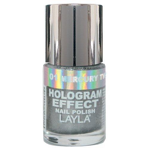 Layla Cosmetics Hologram Effect Nagellack - mercury twilight, 1er pack (1 x 0.01 l) (Lacquer Shades Nail)