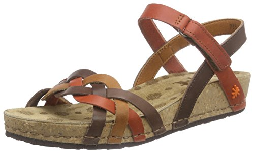 The Art Company 0735 0735 Mojave Pompei - sandali con plateau Donna, Marrone (Multi Brown), 38 EU