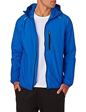 Converse Hombre Falta de definición de nylon Logo Jacket, Azul