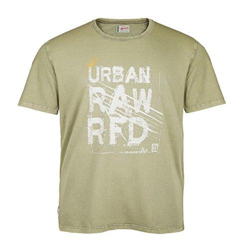 Redfield Übergrößen Vintage T-Shirt Print helloliv Oliv