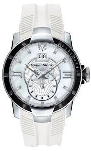 Technomarine 609001 - Reloj analógico de cuarzo unisex con correa de silicona, color blanco