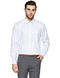 Symbol Amazon Brand Men's Stripe Regular Fit Cotton Shirt