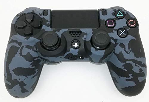 Skins4u Silikon Schutzhülle Case Skin Grip kompatibel mit Playsation 4 PS4 Controller Camo Grey -